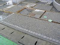 駐車場にコンクリートを打設